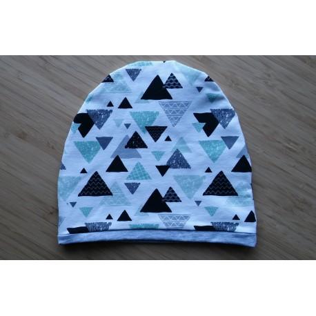 Czapka - trójkąty miętowe (obwód głowy 48 cm)