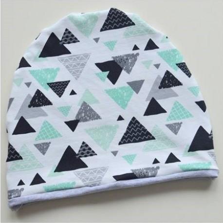 Czapka - trójkąty miętowe