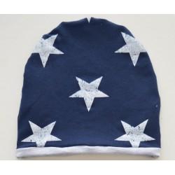 Czapka granatowa w gwiazdy